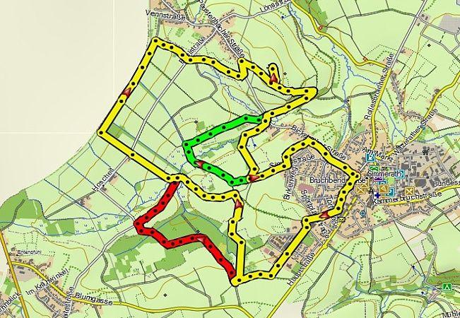 Erweiterung der Wanderung auf 14 Km