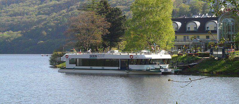 Mit dem Boot von Einruhr nach Rurberg