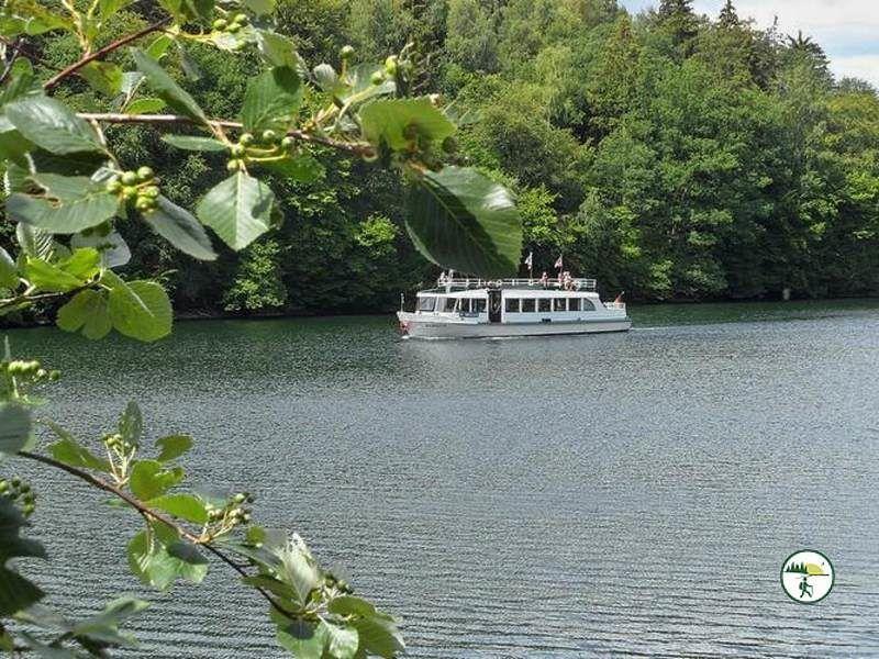 Boot Auf Dem Obersee Bei Einruhr
