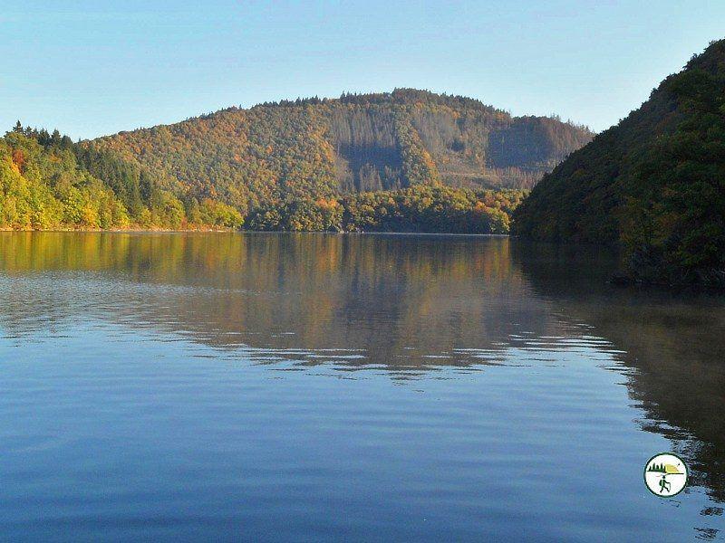 Einruhr Dreibornerhochfläche Blick Auf See Bei Einruhr