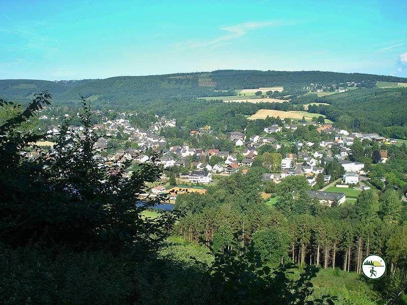 Panoramablick Auf Obermaubach Vom Wegesrand