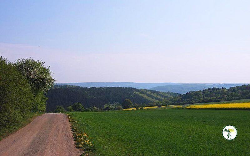 Panoramablick Auf Wegstrecke